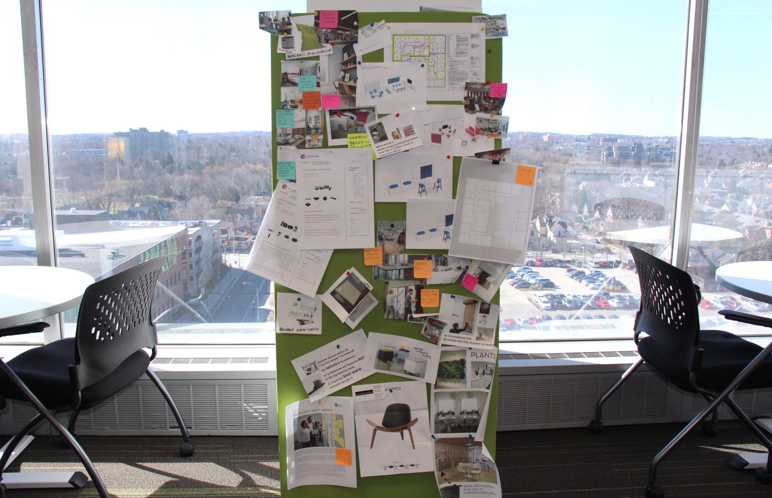 human-centred office design dream board